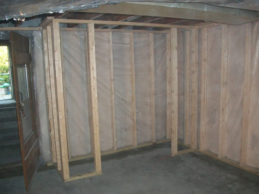 medford ma united states concrete walls sealed and vapor barrier