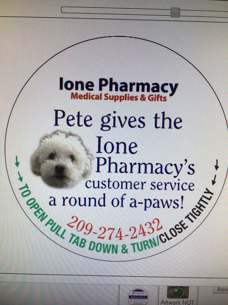 Ione Pharmacy Medical Supplies & Gift: 307 Preston Ave, Ione, CA
