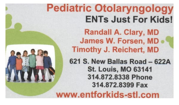 Timothy J Reichert MD 621 S New Ballas Rd Saint Louis MO Childrens Nursing Rehabilitation Ctrs