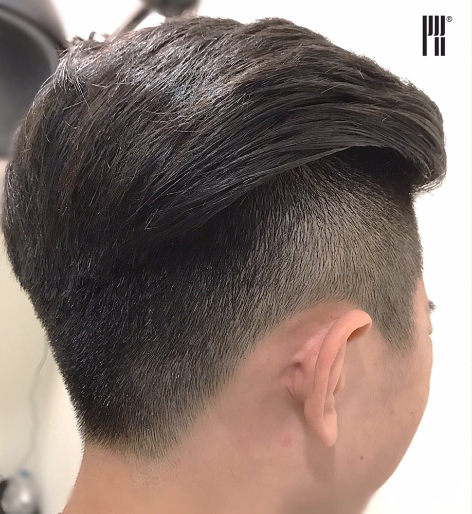 two block haircut by senior stylist eric this style has the effect