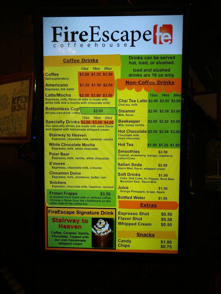Fire Escape Coffee House: 126 W Main St, Chanute, KS