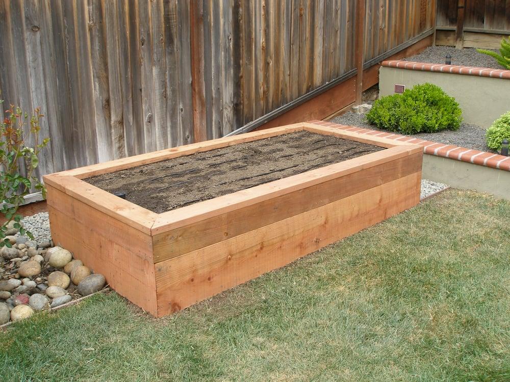 raised redwood planter box yelp. Black Bedroom Furniture Sets. Home Design Ideas