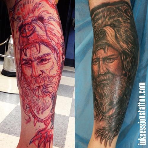 Freehand mountain man tattoo yelp for Mountain man tattoo