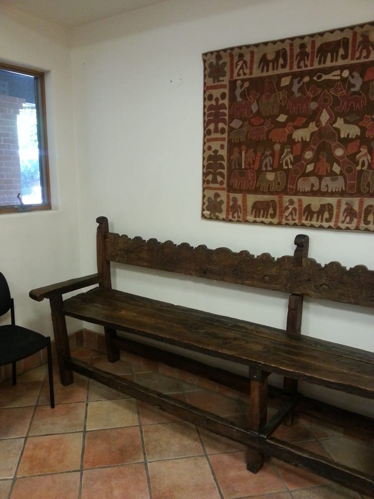 Throughout the clinic they had a lot of handmade wood