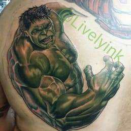 the incredible hulk tattoo done by brittany lively yelp. Black Bedroom Furniture Sets. Home Design Ideas