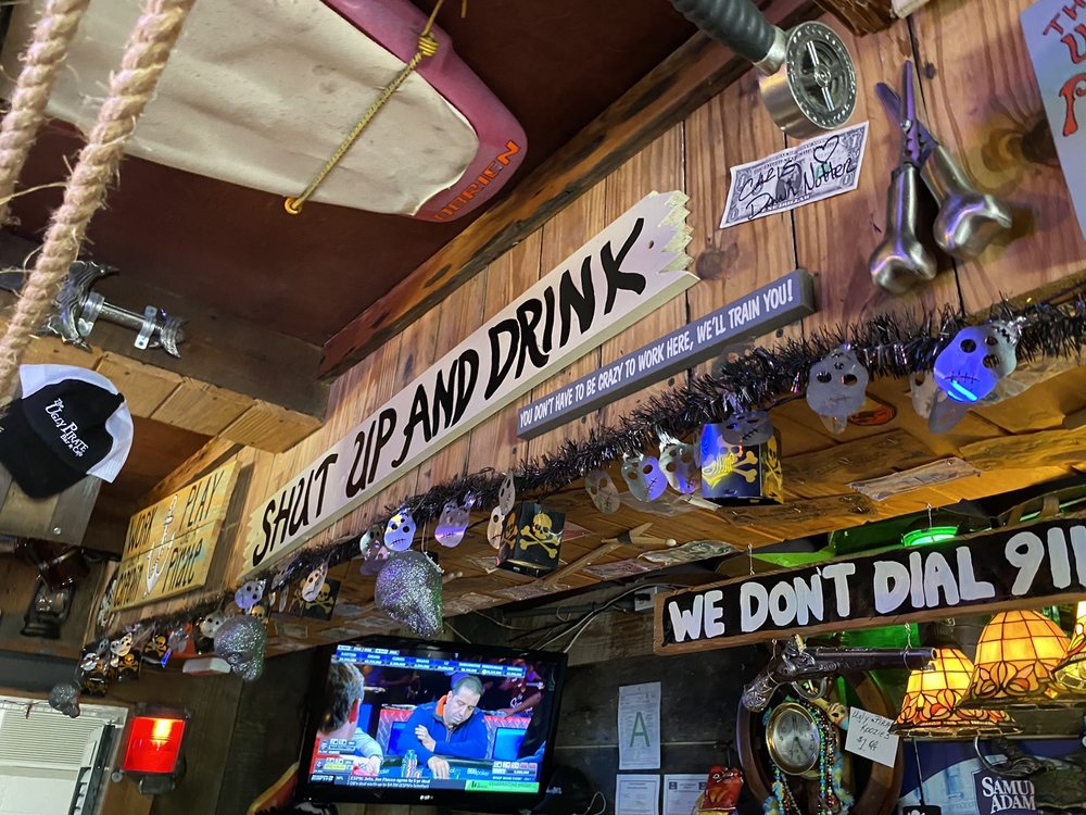 The Ugly Pirate Cafe & Bar: 144 F Demontulizin St, Bay Saint Louis, MS