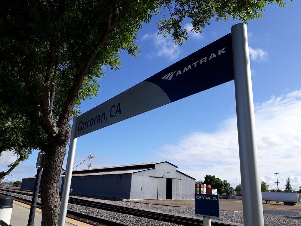 Amtrak Corcoran Station: 1001-1069 Otis Ave, Corcoran, CA