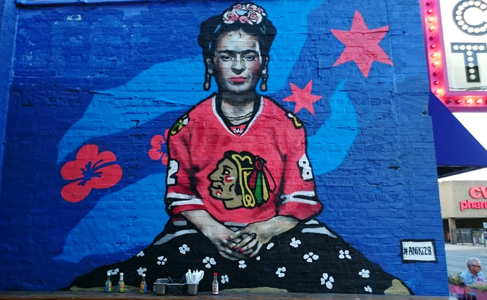 Blackhawks frida kahlo mural yelp for Blackhawks mural chicago