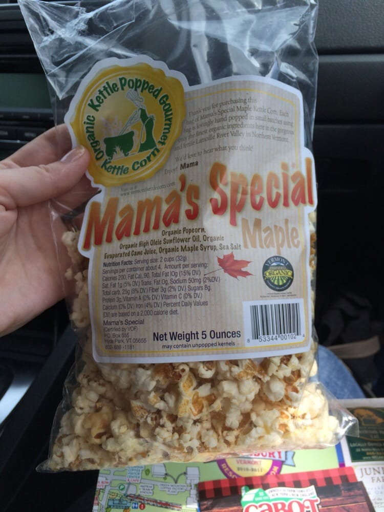 Mama's Special Organic Kettle Corn: Hyde Park, VT