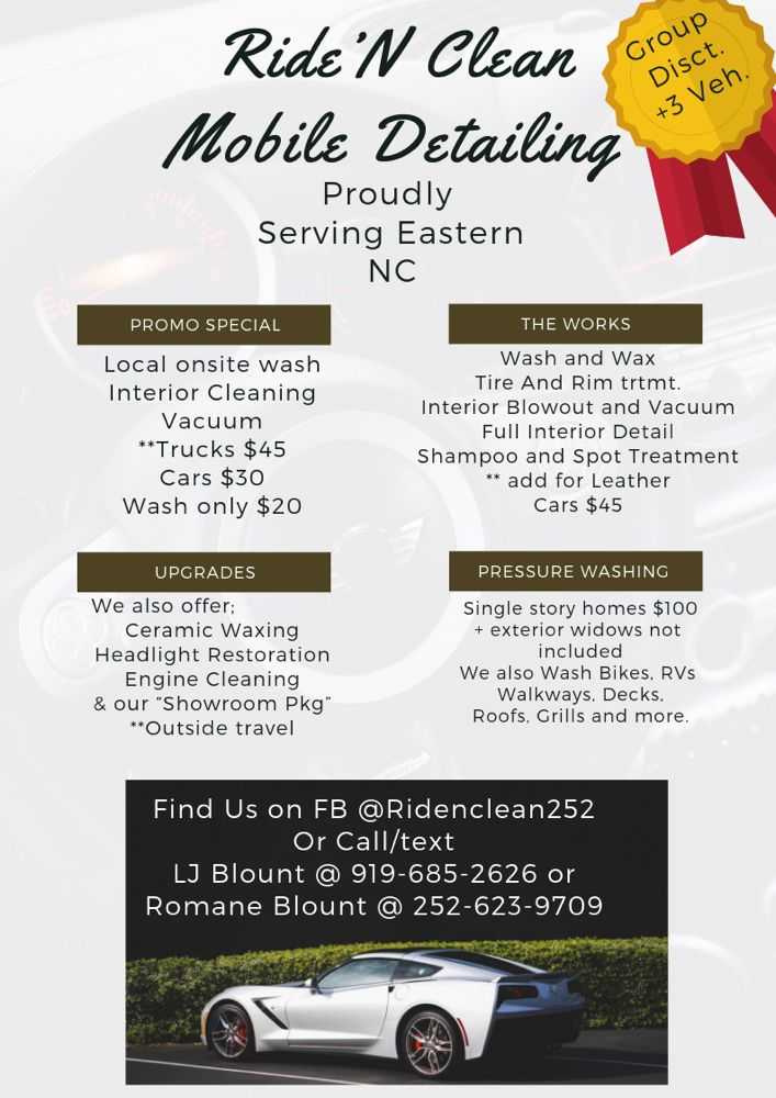 Ride N' Clean Mobile Detailing Services: Winterville, NC