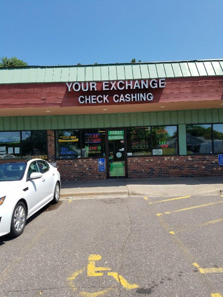 Your Exchange Check Cashing: 10553 University Ave NE, Blaine, MN