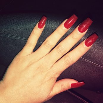 Photo Of New Style Nails Northridge Ca United States Dark Red With