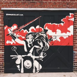 Photo Of Tar Pit Garage Door Murals   Brooklyn, NY, United States