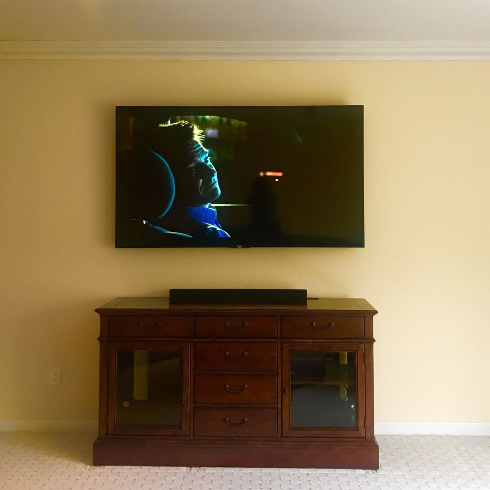 On Wall TV Install: Alexandria, KY