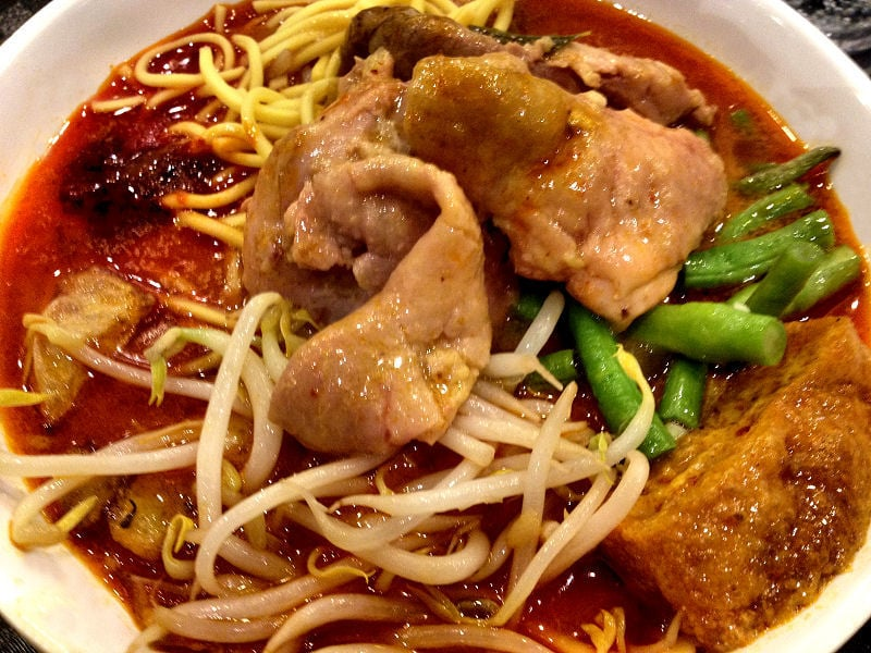 Scissor Cut Chicken Curry Noodles Food Junction Bugis Junction