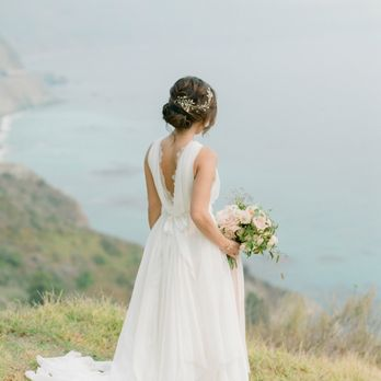 wedding dress by ju lee collection in san jose ca wedding in big sur