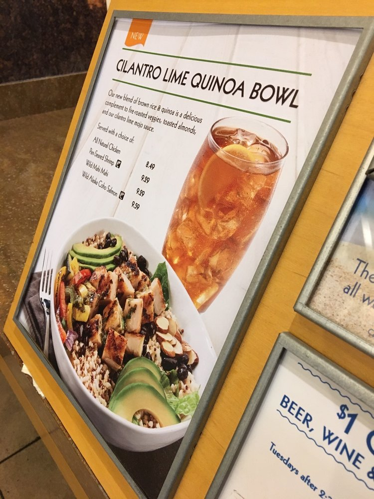 Rubio 39 s quinoa bowl calories for Rubios fish taco calories