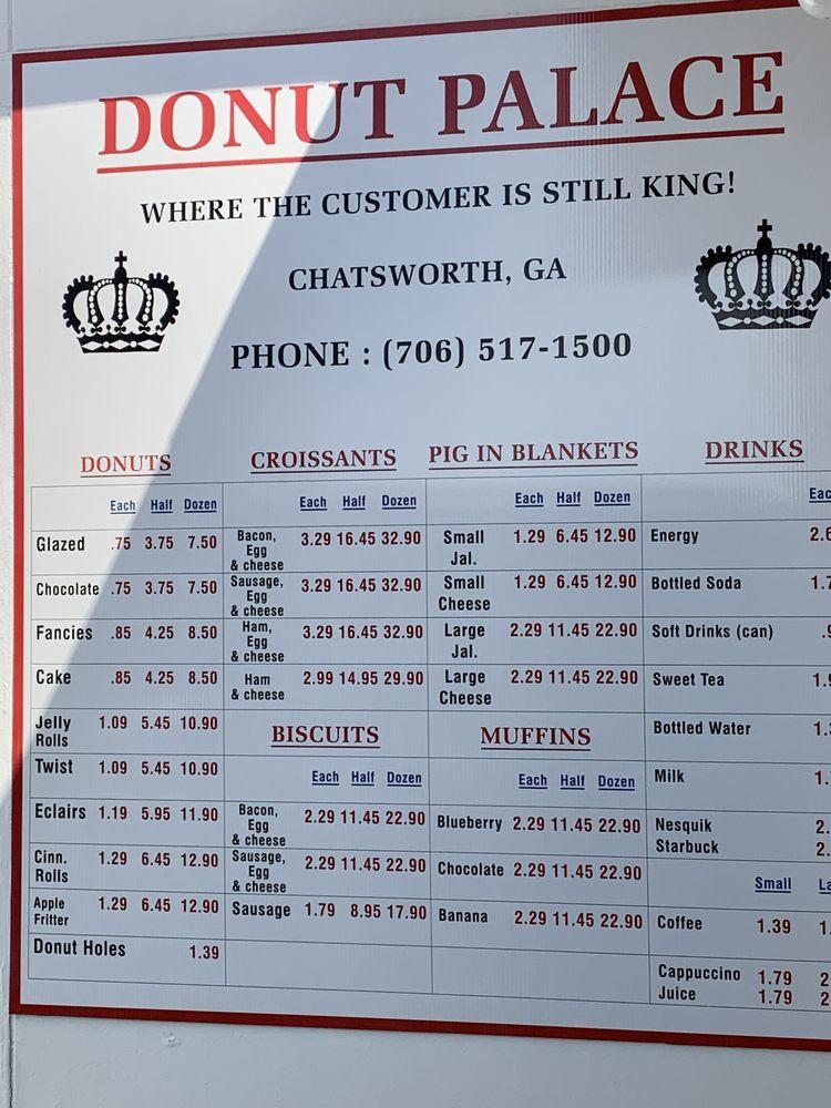 Donut Palace: 401 S 3rd Ave, Chatsworth, GA