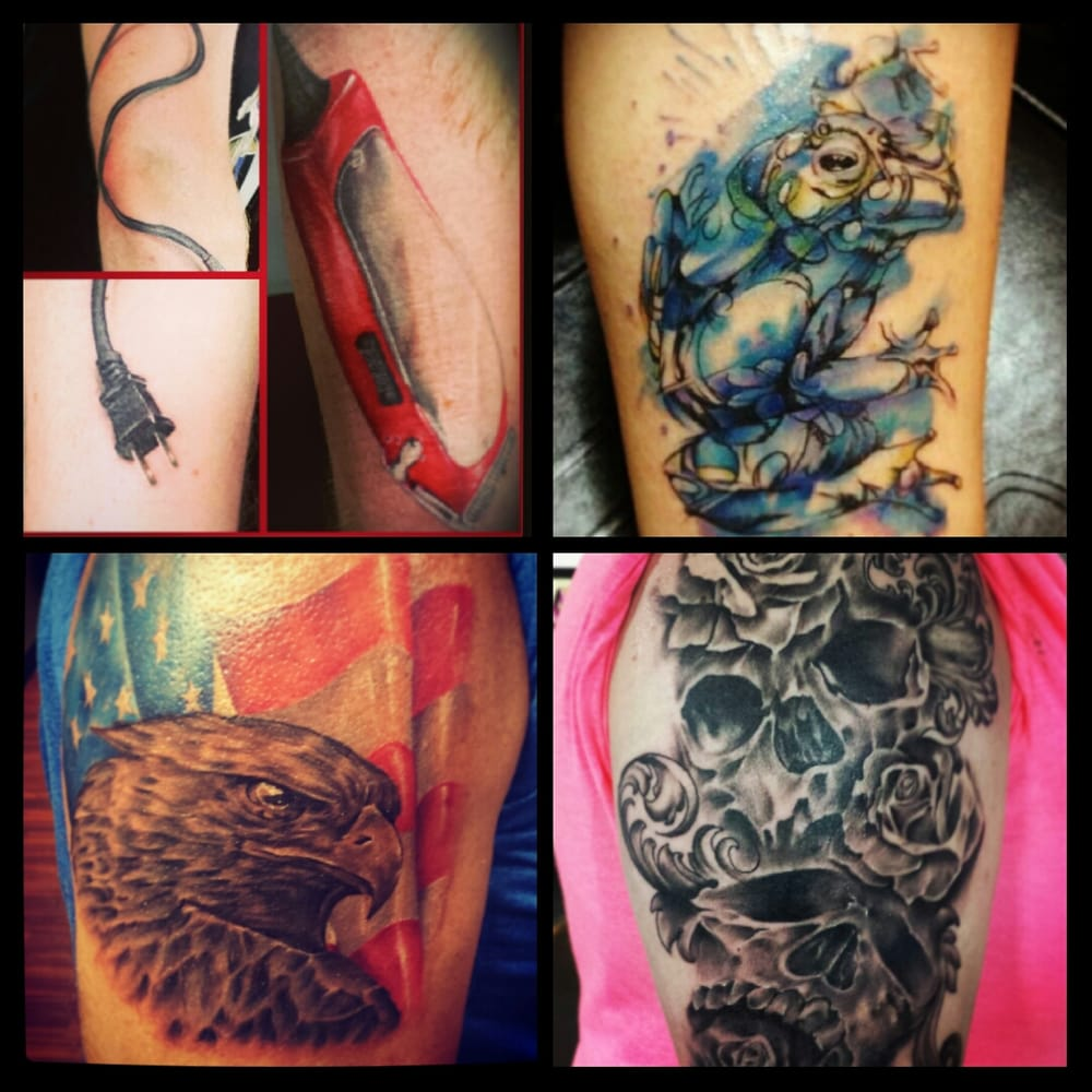 Tattoos by vince casale at holier than thou yelp for Tattoo shops okc