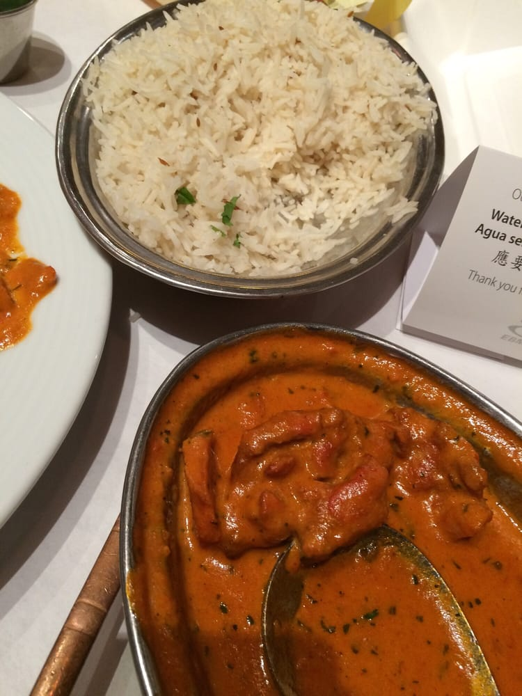 Butter chicken & basmati rice - Yelp