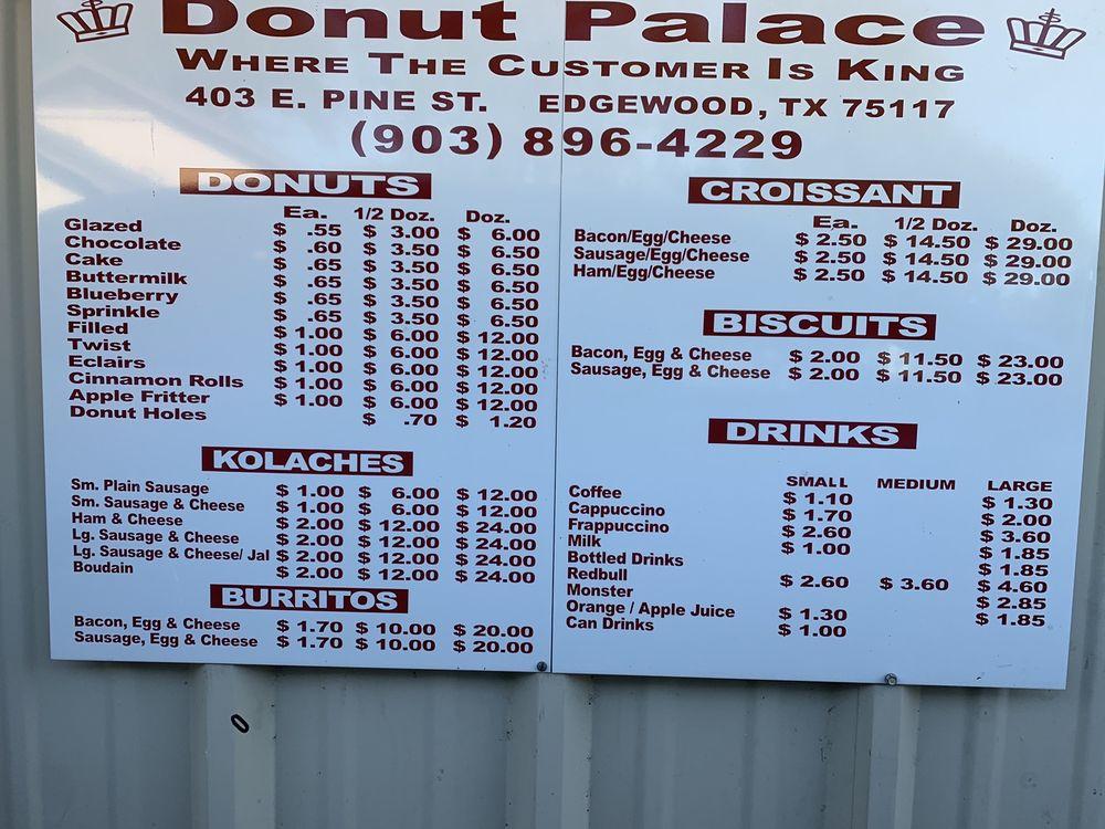 Donut Palace: 403 E Pine St, Edgewood, TX