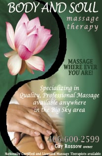 Body and Soul Massage Therapy: 907 Main Loop Rd, Big Sky, MT