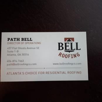 Photo Of Bell Roofing   Atlanta, GA, United States. Business Card