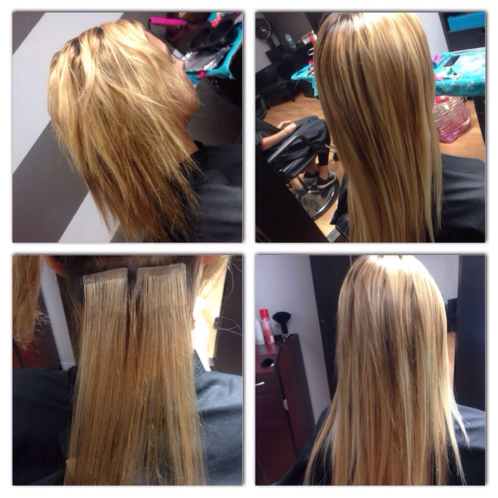 Tape Hair Extensions Using 808 Hair Done By Stephanie Yelp