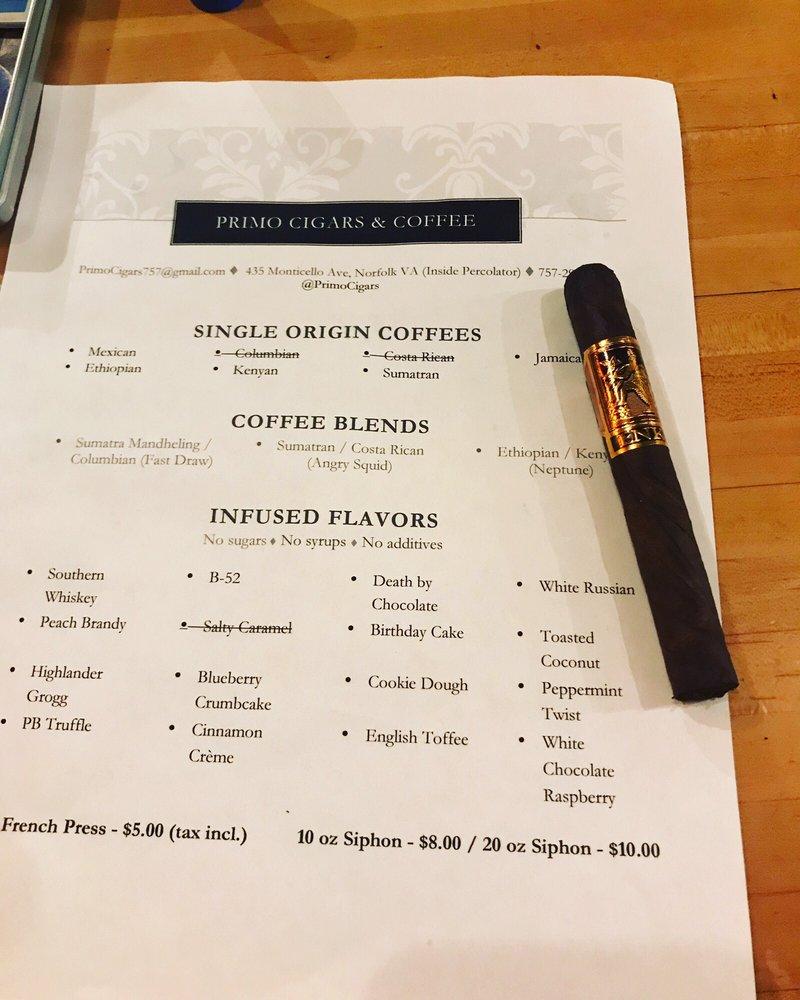 Primo Cigars and Coffee: 435 Monticello Ave, Norfolk, VA