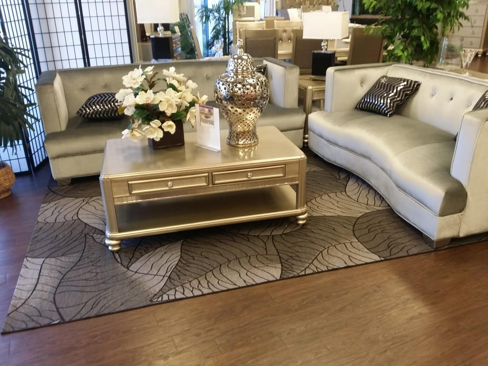 Modern Gray Sofa Set With Mirrored Coffee Table Free Delivery Available In La Oc Yelp