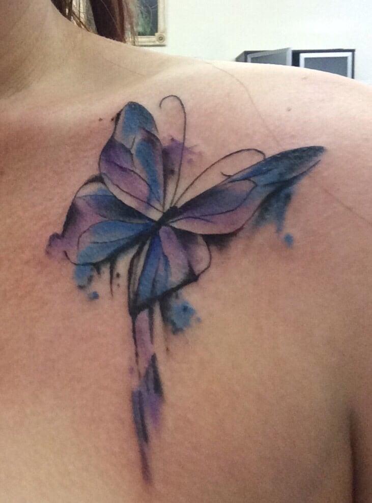 528158e58 Photo of Leonardi Tattoo - Sacramento, CA, United States. My beautiful watercolor  butterfly