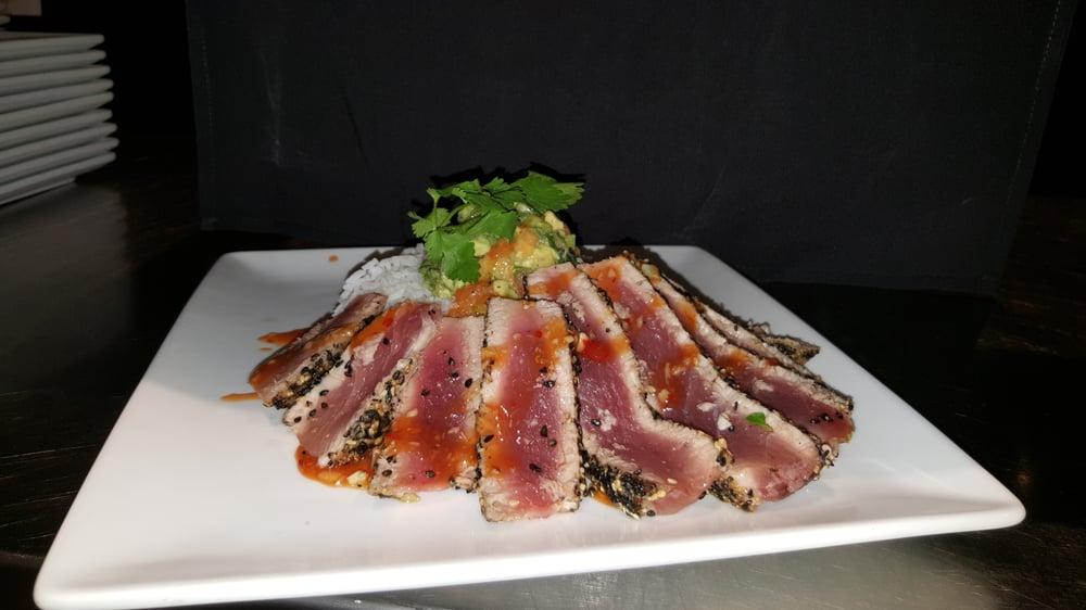 Sesame seared sushi grade tuna papaya yuzu salsa yelp for Sushi grade fish near me
