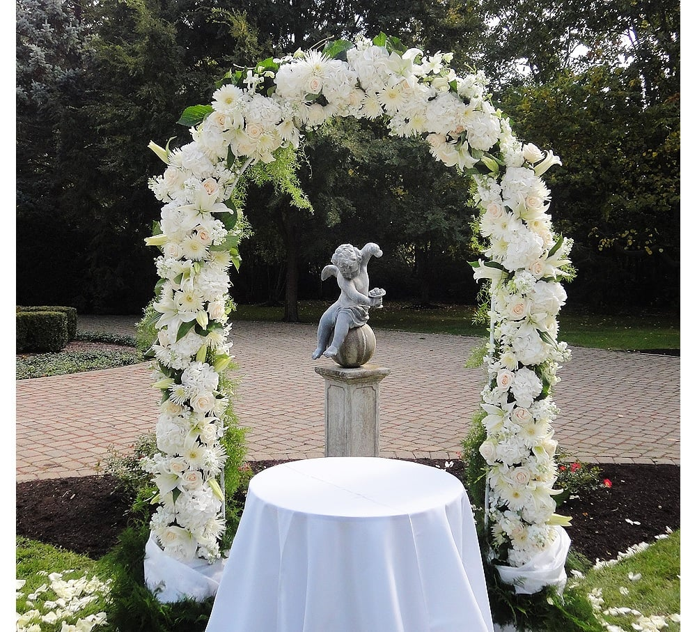 wedding decoration flowers 2 wedding arch wedding ceremony outdoor yelp 9037