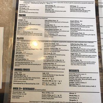 Coyote Cafe Vista Menu