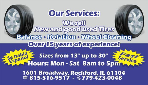 Broadway Tire Service Tires 1601 Broadway Rockford Il Phone