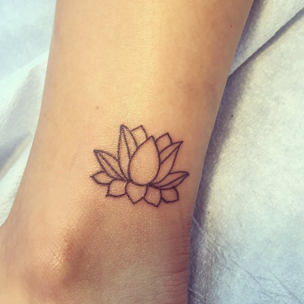A Simple Lotus Flower Above My Ankle Bone By Eric Zona Yelp
