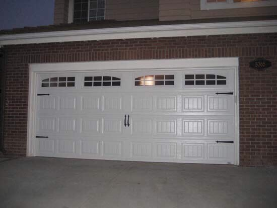 new carriage door installed by orange county garage doors