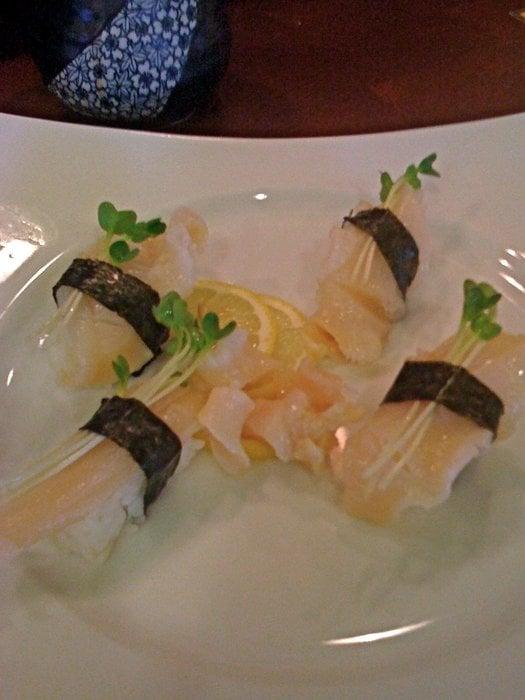 2 orders mirugai (giant clam) nigiri sushi - Yelp Giant Clam Sushi