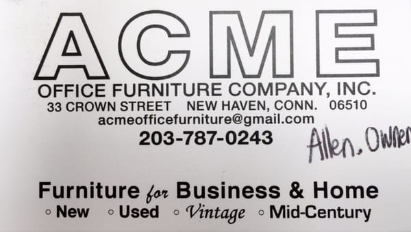 Acme Office Furniture Co Inc 33 Crown St New Haven, CT Office Supplies    MapQuest