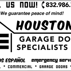 Photo of Houston\u0027s Garage Door Specialists - Houston TX United States. Your top  sc 1 st  Yelp & Houston\u0027s Garage Door Specialists - Garage Door Services - Spring ...