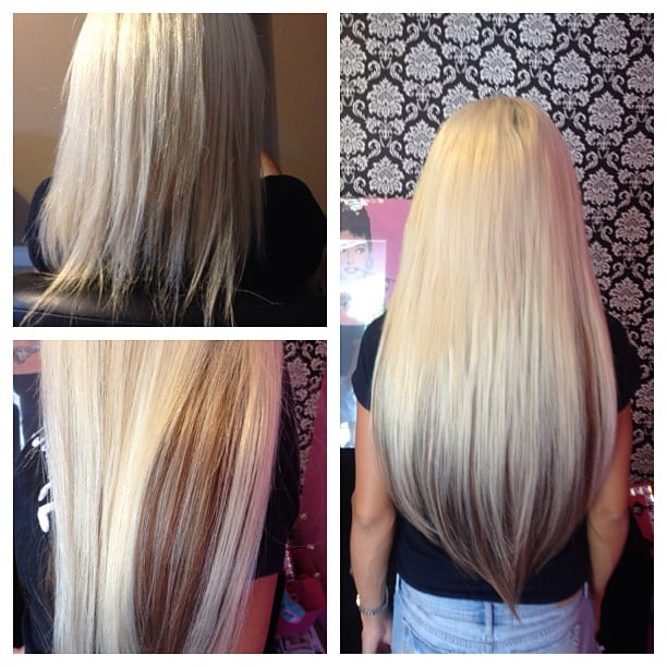 Light Blonde And Honey Brown 22 Inch Micro Bead Extensions Pnoenix