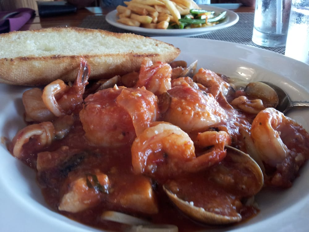 Fresh seafood pasta in marinara sauce yum yelp for Uncle s fish market and grill