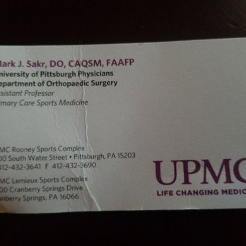 Yelp Reviews for UPMC Center for Sports Medicine - 10 Photos - (New