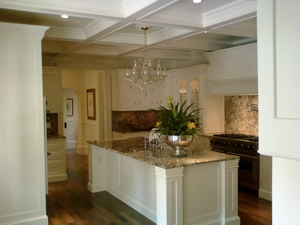 Fully custom kitchen with french doors boxed soffits and for Beaverton kitchen cabinets reviews