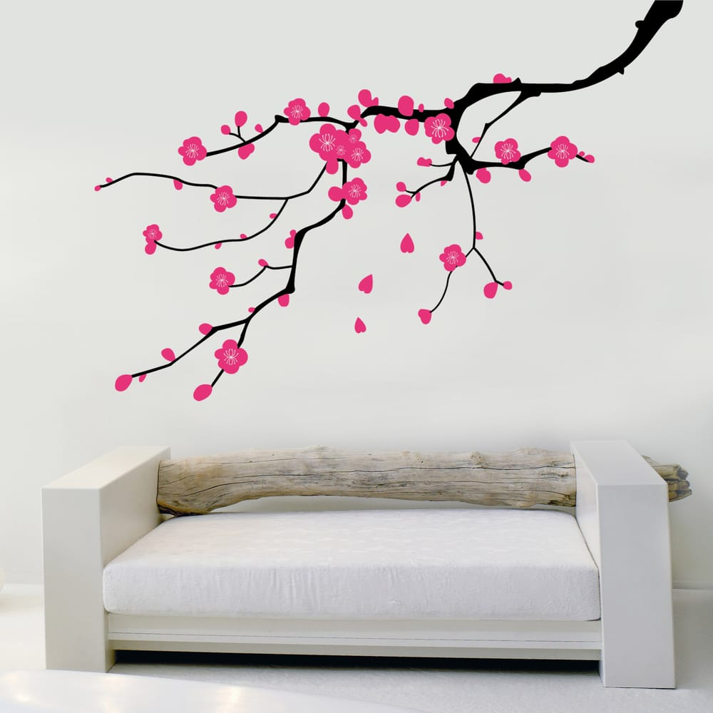 sticker branche de cerisier en fleurs yelp. Black Bedroom Furniture Sets. Home Design Ideas