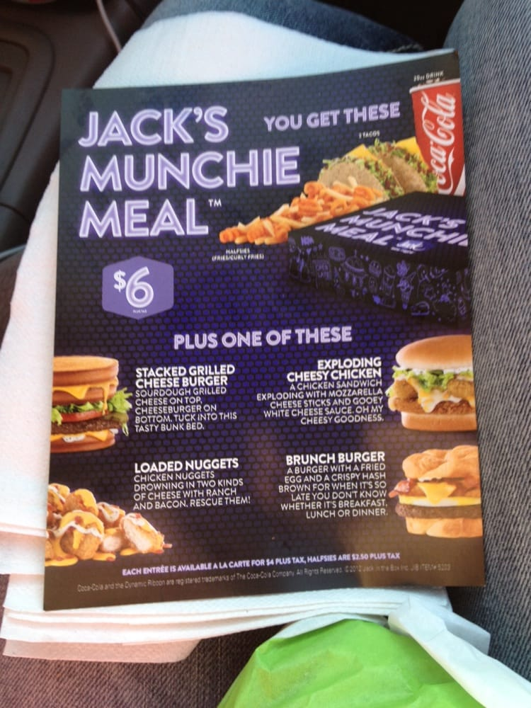 """Jack in the Box is being remarkably up front about its sticky-icky strategy for the """"Merry Munchie Meal,"""" which will include a hefty helping of fried snacks for the carefully-chosen price of."""