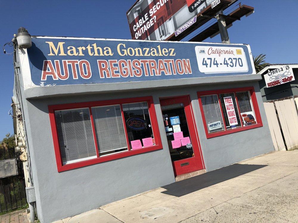 Martha Gonzalez Registration Service: 522 Highland Ave, National City, CA
