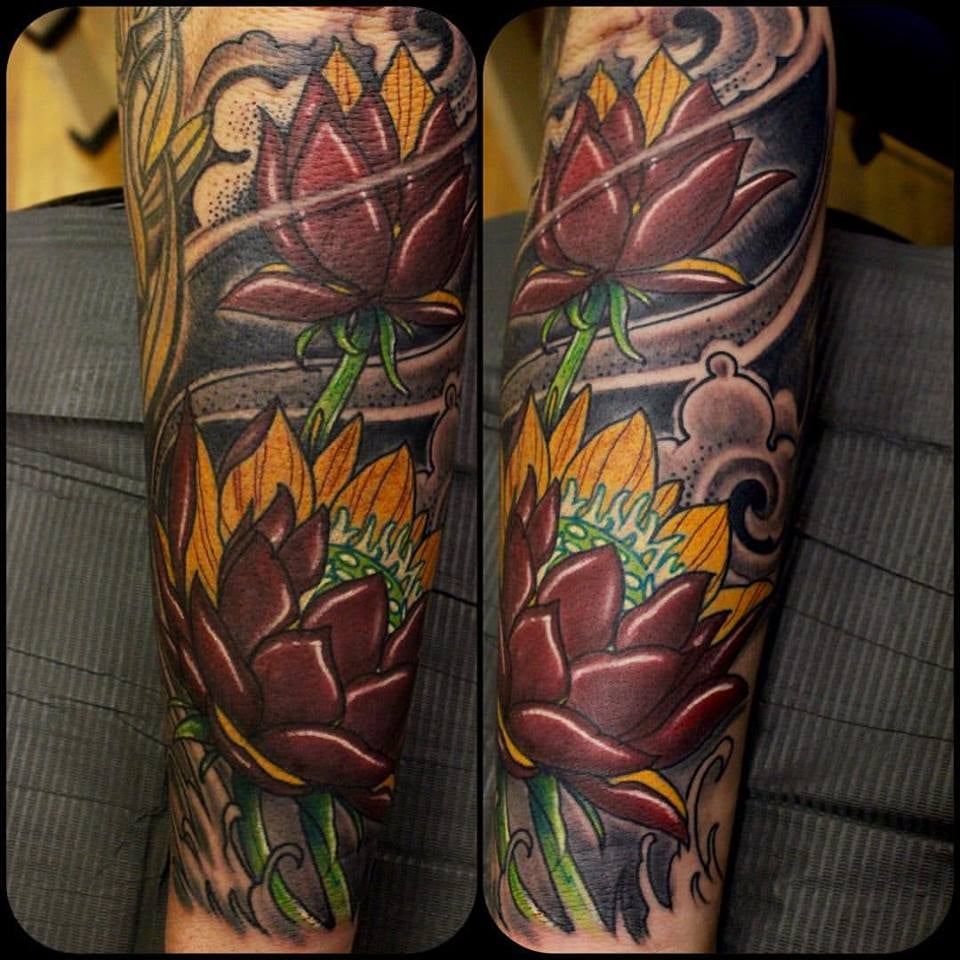 Red lotus for my buddy steve yelp for Tattoo roanoke va
