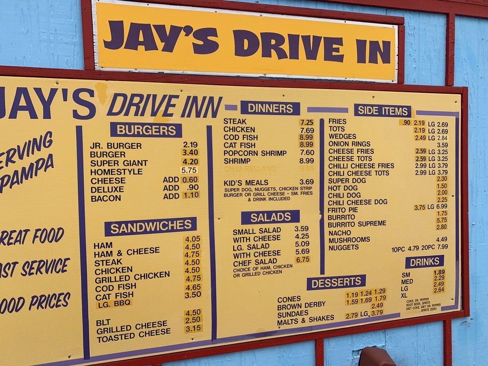 Jay's Drive Inn: 924 Alcock St, Pampa, TX