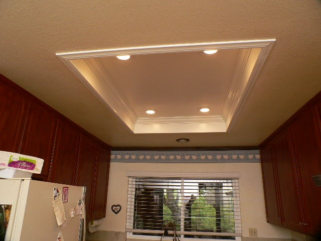What do i do with my old wood frame box light in my for Kitchen ideas w2 5sh